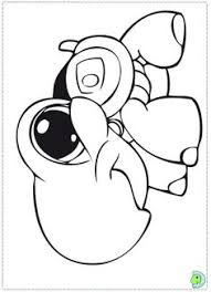 littlest pet shop color cartoon characters coloring pages