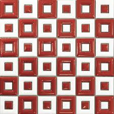 white red ceramic mosaic tile kitchen backsplash bathroom wall