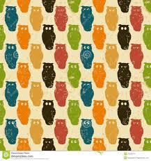 halloween background retro pattern with owls stock images