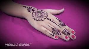 Pink Color New Easy And Quick Pink Color Glitter Mehndi Design For Parties Ll