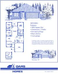 Florida Home Floor Plans Palm Coast South Adams Homes