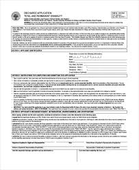 sample disability application forms 8 free documents in pdf