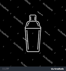 martini shaker vector hd stock vector cocktail shaker line icon on black background library