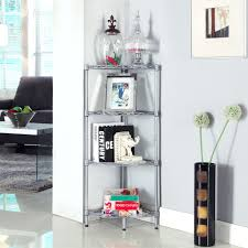 Shelves For Living Room Amazon Com Langria 4 Tier Wire Mesh Corner Shelf Free Standing