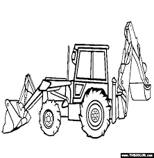 backhoe loader coloring free backhoe loader coloring