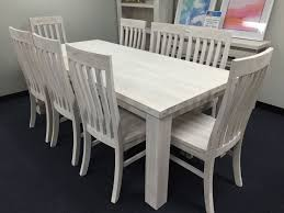 kent solid ash table clock seaforth solid timber dining table 210cm chair package white