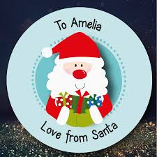 christmas stickers 24 personalised christmas stickers ssc01