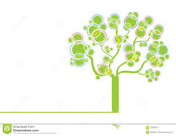 green graphic tree stock image image 13506471