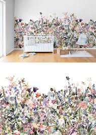 Wallpaper For Kids Room May Meadow Pastel Nursery Wallpaper Wall Murals And Kids Rooms