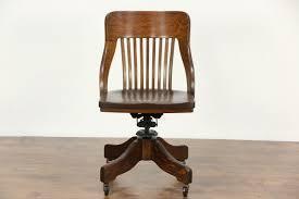 oak quarter sawn 1910 antique adjustable swivel desk chair harp