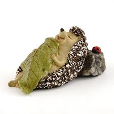 miniature garden sleeping squirrel figures shelley b home and