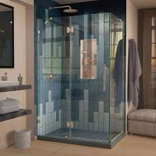 Angled Glass Shower Doors Corner Shower Doors Shower Doors The Home Depot