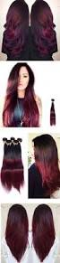 Wash Away Hair Color Long Two Tone Red Wig Balayage Ombre And Hair Tape