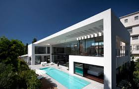 bauhaus home modern home showcasing imposing architecture details in israel