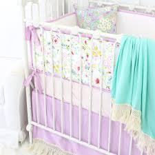 harper u0027s lilac boho fringe crib bedding caden lane