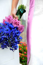 wedding flowers m s blue delphiniums and purple roses bouquet wedding flower