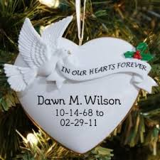 memorial ornaments personalized in memory ornaments
