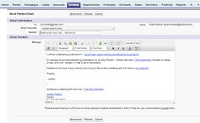 send tracked pardot email templates from salesforce com