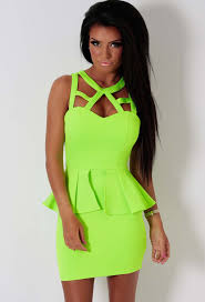 pink boutique dresses lime green bodycon peplum dress pink boutique