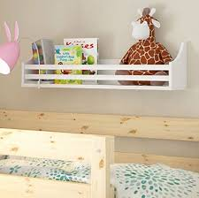 Wall Shelf For Kids Room by Amazon Com Wooden Bunk Bed Shelf Bookcase And Bedside Storage For
