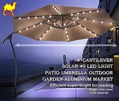 Umbrella Ceiling Light Patio Umbrella With Led Lights Gemmy Solar Led Amazon Com And 4