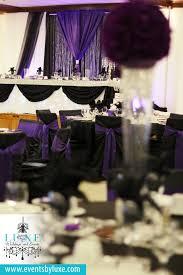 purple black and white wedding backdrop purple uplighting purple