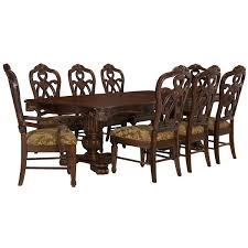 rectangular dining room tables city furniture regal dark tone rectangular table u0026 4 wood chairs