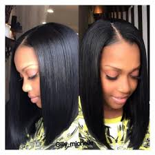 weave bob hairstyles with middle part 1000 ideas about bob sew in