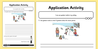 question marks application activity sheet gps punctuation