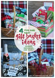 gift basket wrapping paper 4 and easy gift basket ideas for christmas a girl and a glue gun