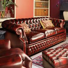Red Leather Chesterfield Sofa by Chesterfield Sofa Leather 3 Seater Red Graham Fleming
