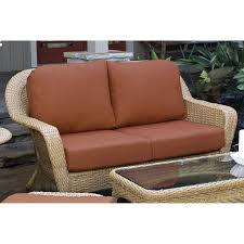 shop tortuga outdoor lexington solid cushion mojave wicker