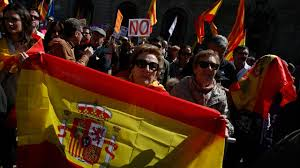 Spain Flags Thousands Rally In Barcelona Against Catalan Independence U2014 World