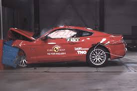 bugatti crash test ford mustang slammed for two star euro ncap crash test
