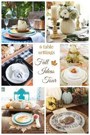 Fall Table Settings 116 Best Fall Table Settings Images On Pinterest Thanksgiving
