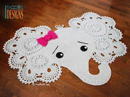 Crochet Owl Rug Josefina And Jeffery Elephant Rug Pdf Crochet Pattern For Purchase