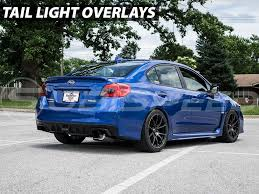 subaru wrx red tail light blackout tinted overlay smoked red yellow 2015