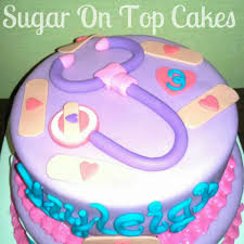 top of a doc mcstuffins birthday cake facebook com