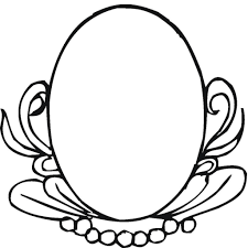 oval mirror decoration coloring page home u0026 housework