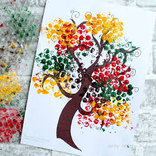 Simple Fall Crafts For Kids - bubble wrap autumn tree craft arty crafty kids