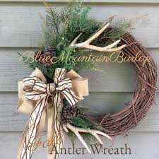best 25 antler wreath ideas on rustic wreaths