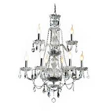 Crystal And Gold Chandelier Decor Living Venetian 9 Light Crystal And Chrome Chandelier 104994