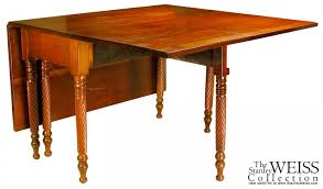 Oval Drop Leaf Dining Table A Federal Cherry Drop Leaf Dining Table With Rope Twist Spiral