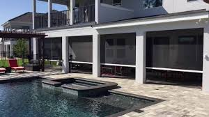 motorized screens by orlando pool and patio by design youtube
