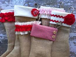 set of 2 burlap christmas stockings burlap stockings shabby