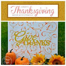 craft thanksgiving decor with stencils stencil stories