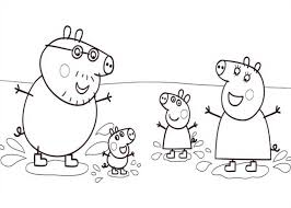 big family peppa pig coloring big family peppa pig coloring