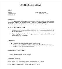 resume sle for freshers jobsxs