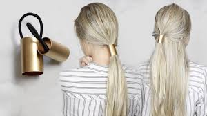 diy gold ponytail hair cuff simple hair accessory