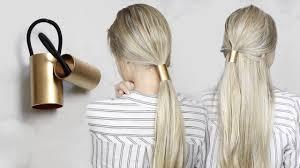 hair cuff diy gold ponytail hair cuff simple hair accessory